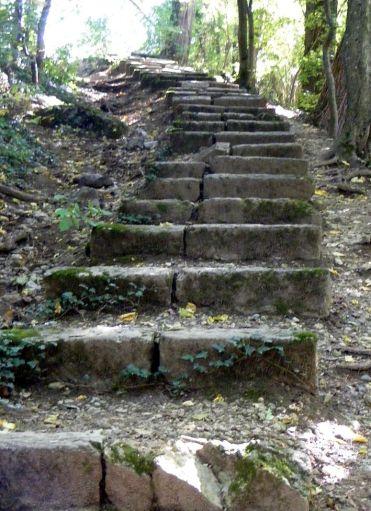 Chemin de fer du Salève - vestiges of the Escalier du Pas de l'Échelle © Wikipedia