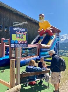 Télécabine du Jaillet - bouncy castle for little ones © montblancfamilyfun.com